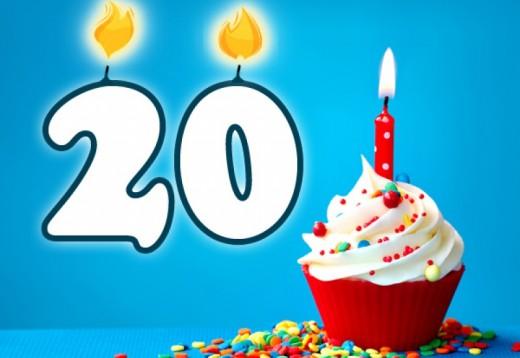 Verjaardag 20 Jaar Origineel Cadeau Met Gratis Gepersonaliseerde E